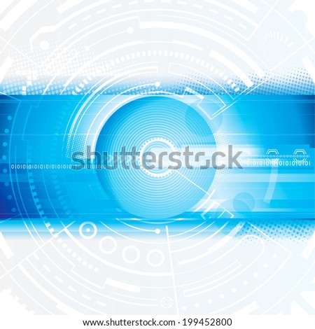 Abstract technology blue digital background. - stock photo