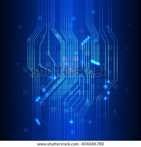 Abstract Technology circuit background