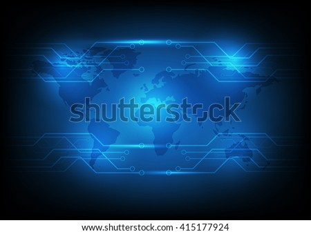Abstract Technology circuit background - stock photo