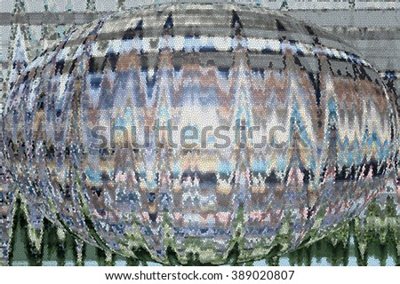 Abstract technology mosaic globe