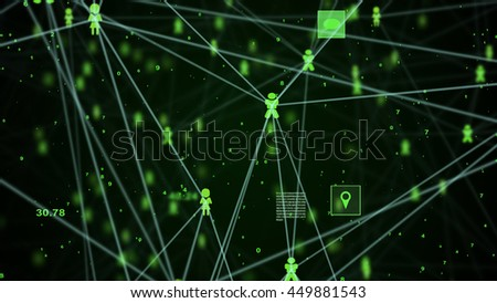 abstract technology network connection concept for background