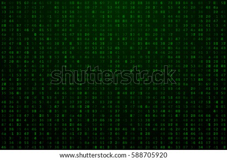Abstract Technology / Science Background. Binary Computer Code. Coding / Hacker concept. Computer / Machine Data.