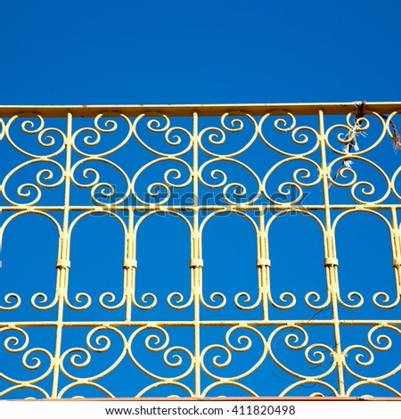 abstract terrace in morocco africa and the sky - stock photo