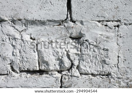 Abstract texture background, white painted concrete wall