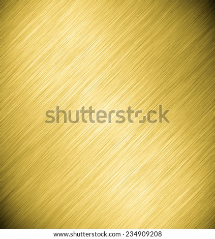 Abstract texture of dark yellow, golden and light black smooth brushed metal background - stock photo