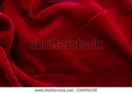 abstract texture of  draped red velvet background - stock photo
