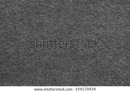 abstract texture of fleecy knitted fabric for backgrounds of black color - stock photo