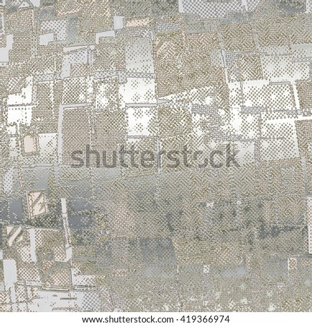 Abstract texture of various patterns in stylish chrome colors.