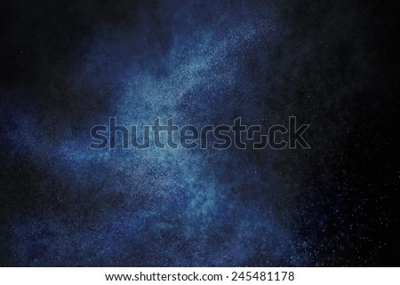 abstract texture space starry sky galaxy background Millstone white dots - stock photo