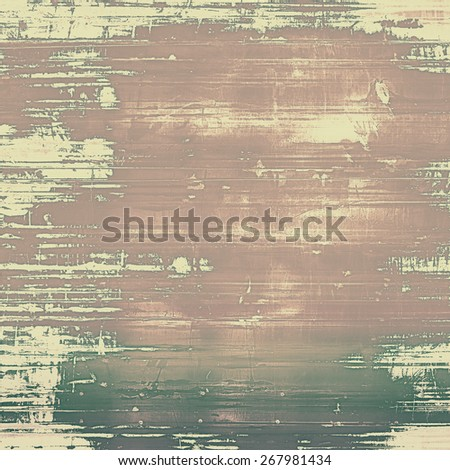 Abstract textured background designed in grunge style. With different color patterns: yellow (beige); brown; gray - stock photo