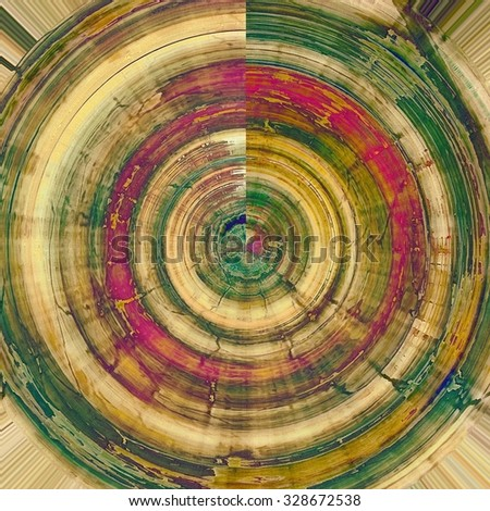 Abstract textured background designed in grunge style. With different color patterns: yellow (beige); brown; green; pink - stock photo