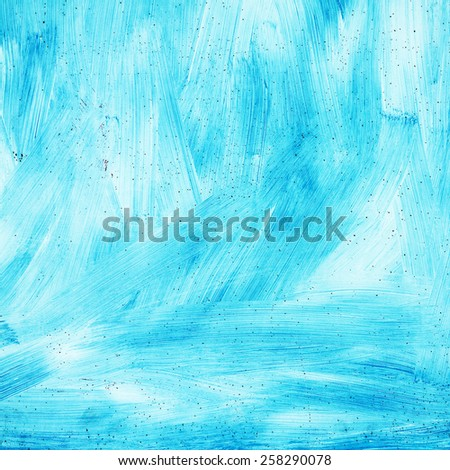 Abstract textured background grunge rusty metal surface is painted bright blue paint - stock photo