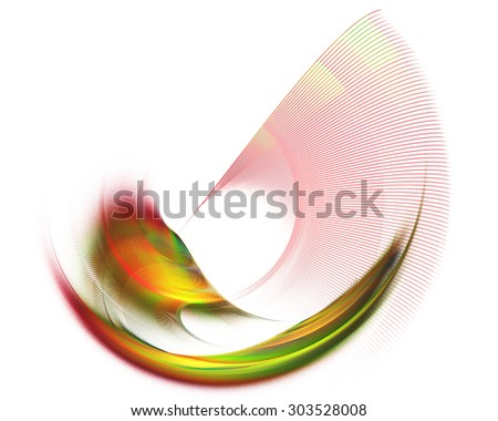 Abstract textured image graphic element for design , stroke , rotating on a white background - stock photo