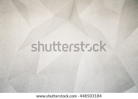 Abstract textured polygon patterned concrete wall. Mock up, 3D Rendering