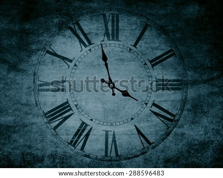 abstract textured vintage clock closeup