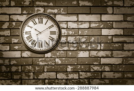 abstract textured vintage clock closeup  - stock photo