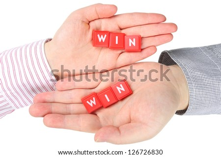 Abstract the best way; both win - stock photo
