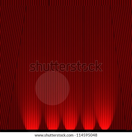 Abstract theater stage curtain - stock photo