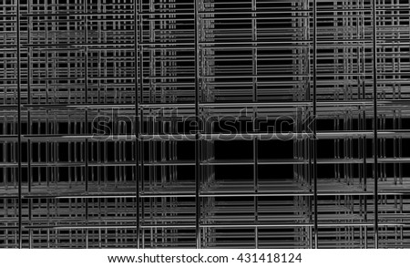 abstract three dimensional net 3d illustration - stock photo