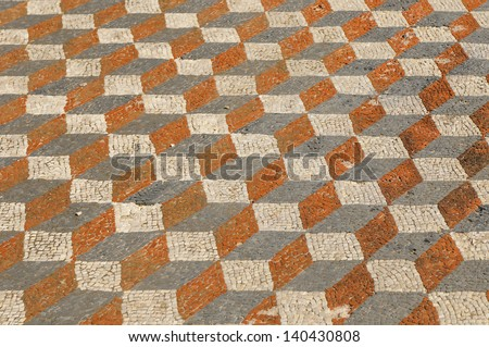 abstract tiled background - stock photo