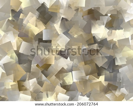 Abstract tiled background in grey, brown, yellow spectrum - stock photo