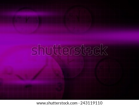 Abstract time&speed, purple business background  - stock photo