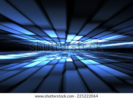 Abstract time warp, traveling in space. - stock photo