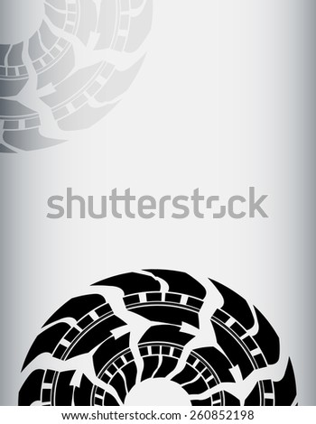 abstract tire background - stock photo