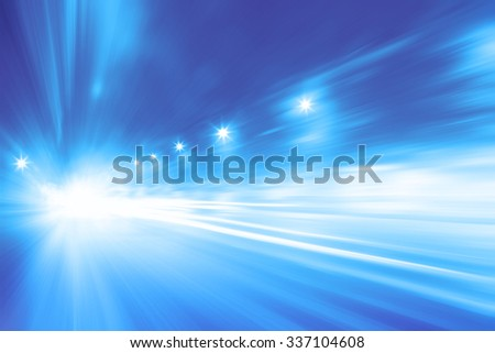 Abstract toned image of traffic lights with motion blur in the city. - stock photo