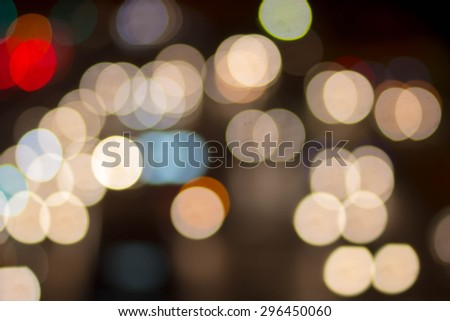 Abstract traffic light blurred backgrounds,out of focused concept.blur of bokeh circle light christmas festive backdrop concept. - stock photo