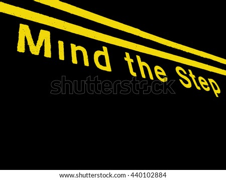 Abstract Train Platform Scene Mind The Step
