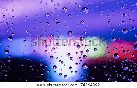 Abstract translucent water drops background, macro view - stock photo