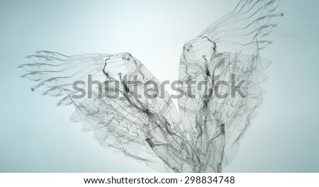 abstract transparent shape texture background