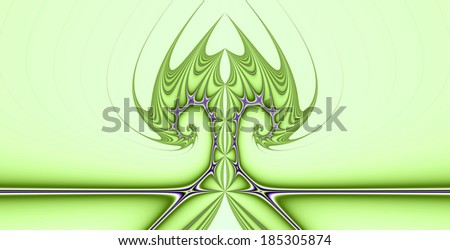 Abstract tree background with a detailed spiraling pattern in high resolution in light green and pink colors
