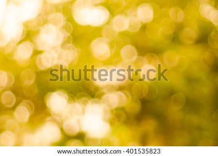 Abstract tree leaves circular bokeh background
