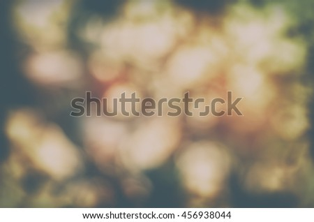 Abstract tree leaves circular bokeh background, Vintage bokeh - stock photo