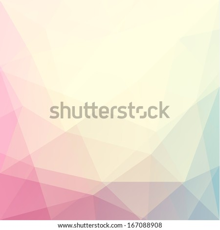 Abstract triangle art in pastel colors - raster version - stock photo