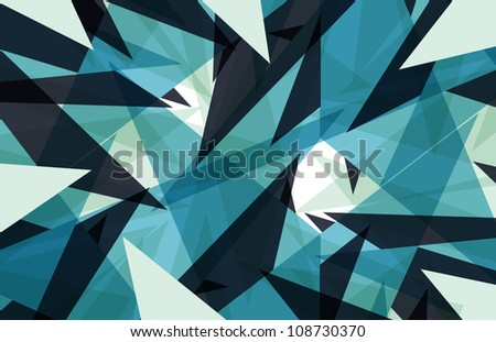 Abstract triangle colorful background - stock photo