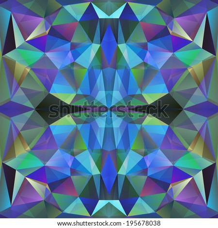 Abstract Triangle Geometrical Multicolored Background, Raster Version - stock photo