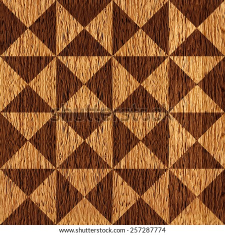 Abstract triangle pattern - seamless background - wooden pattern - stock photo