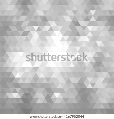 Abstract triangle pattern with lights - raster version - stock photo