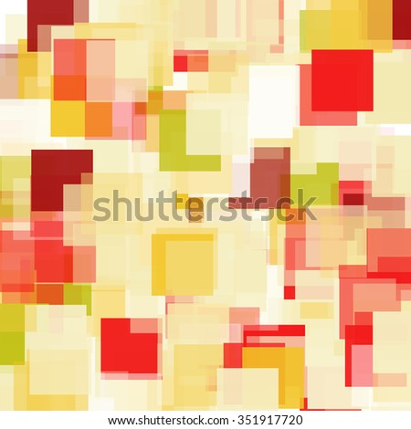 Abstract Triangle Polygonal Geometrical Background, Illustration. Geometric design frame for business presentations, flyers, banners, brochures leaflets, web. red gold yellow tile pattern - stock photo