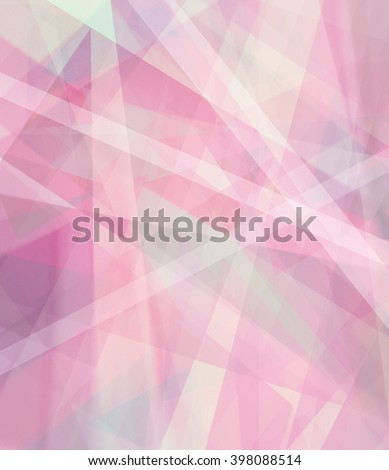 abstract triangle shapes and stripes layered in random pattern, burgundy mauve rose and violet colors of pink and purple, pink graphic art background, modern contemporary design layout - stock photo