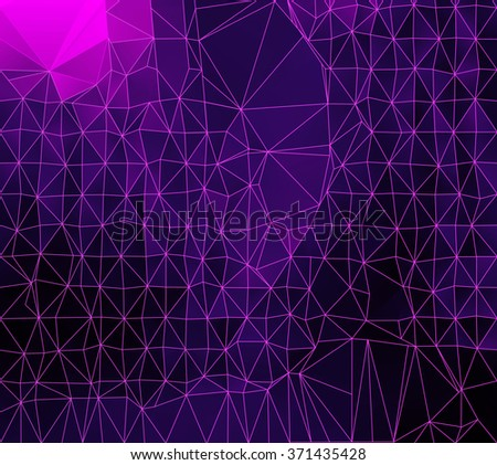 Abstract triangles geometric background - stock photo