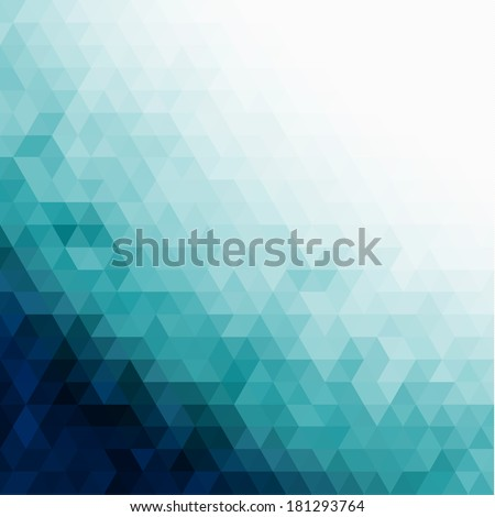 Abstract triangles pattern background - raster version - stock photo