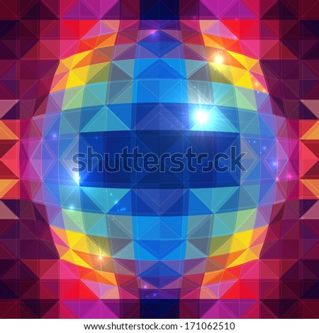 Abstract triangles sphere effect seamless pattern - stock photo