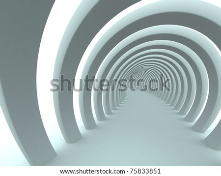 Abstract tunnel background - stock photo