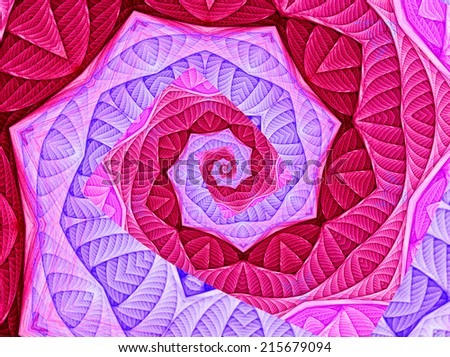 abstract tunnel spiral - stock photo