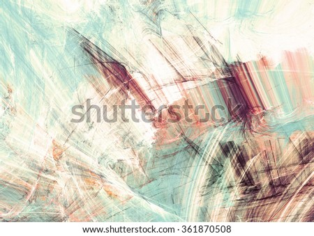 Abstract turquoise, marsala and white color motion composition. Modern bright futuristic painting background with lighting effect. Shiny dynamic pattern. Fractal art for creative graphic design