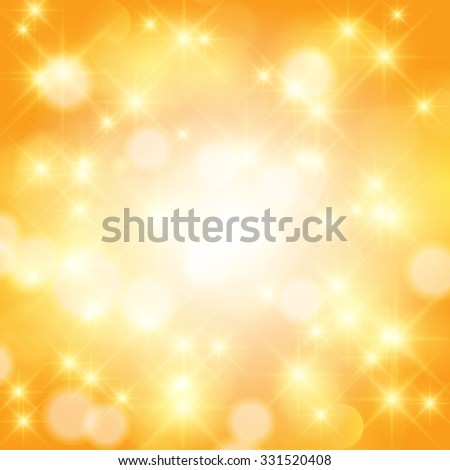 Abstract twinkled bright background with bokeh defocused golden lights. - stock photo